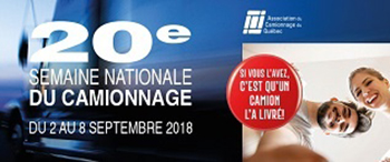 Semaine nationale du camionnage 2018